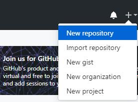 Create a new repo